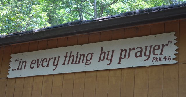 Everything by Prayer sign